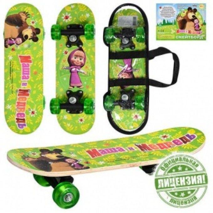 Детский скейт Маша и Медведь (MM 0010)