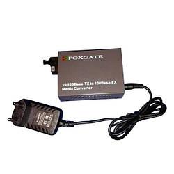 WDM медиаконвертер EC-23721-1SM-1550nm-20-LFP