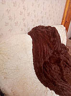 Покрывало меховое с длинным ворсом 220х240 Koloco шоколадное