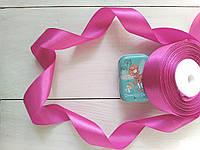 Лента атласная 25мм ярко-розовый