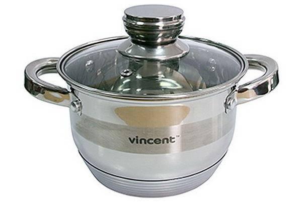 Кастрюля Vincent 3170-24 d=24см 6,1л, фото 2
