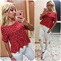 Женская яркая красная блуза