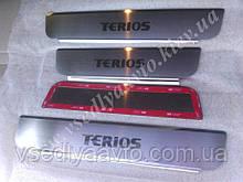 Защита порогов - накладки на пороги Daihatsu TERIOS с 2008- (Premium)