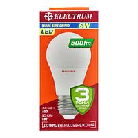 Лампа светодиодная Electrum A50 6W E27 3000