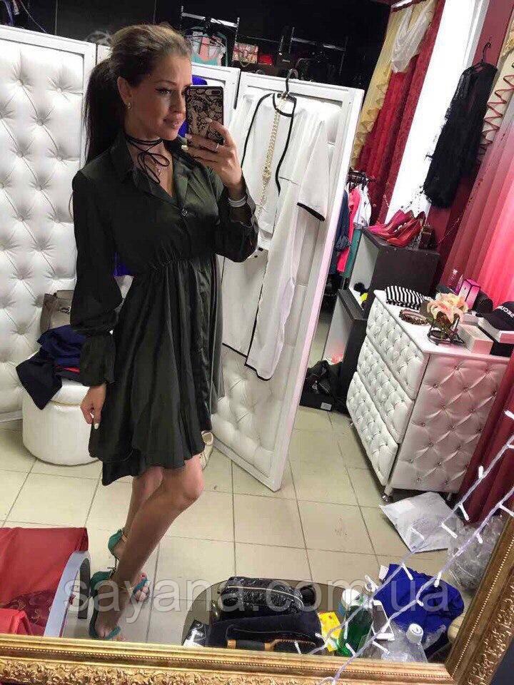 Женское стильное платье рубашка в расцветках. МД-7-0617