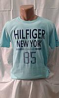 Мужская футболка тенниска Томми Хилфигер Tommy Hilfiger Турция бирюзовая