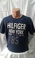 Мужская футболка тенниска Томми Хилфигер Tommy Hilfiger Турция синяя