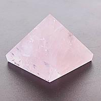 Пирамида Розовый Кварц 30х30мм