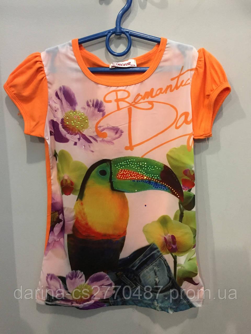 Легкая футболка для девочки 122-128 см