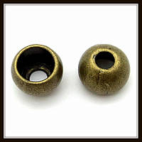 """Колпачок бижутерный """"бронза""""  (диам. 1 см, высота 0,8 см) 8 шт в уп."""