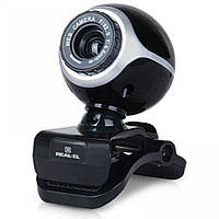 Web камера REAL-EL FC-100 Black, 1.3 Mpx, 640x480, USB 2.0, встроенный микрофон