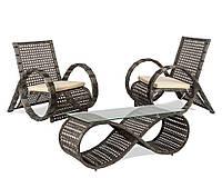 Плетеный комплект мебели из искусственного ротанга