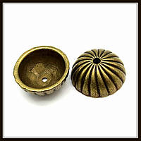 """Колпачок бижутерный """"бронза""""  (диам. 1,9 см, высота 0,8 см) 5 шт в уп."""