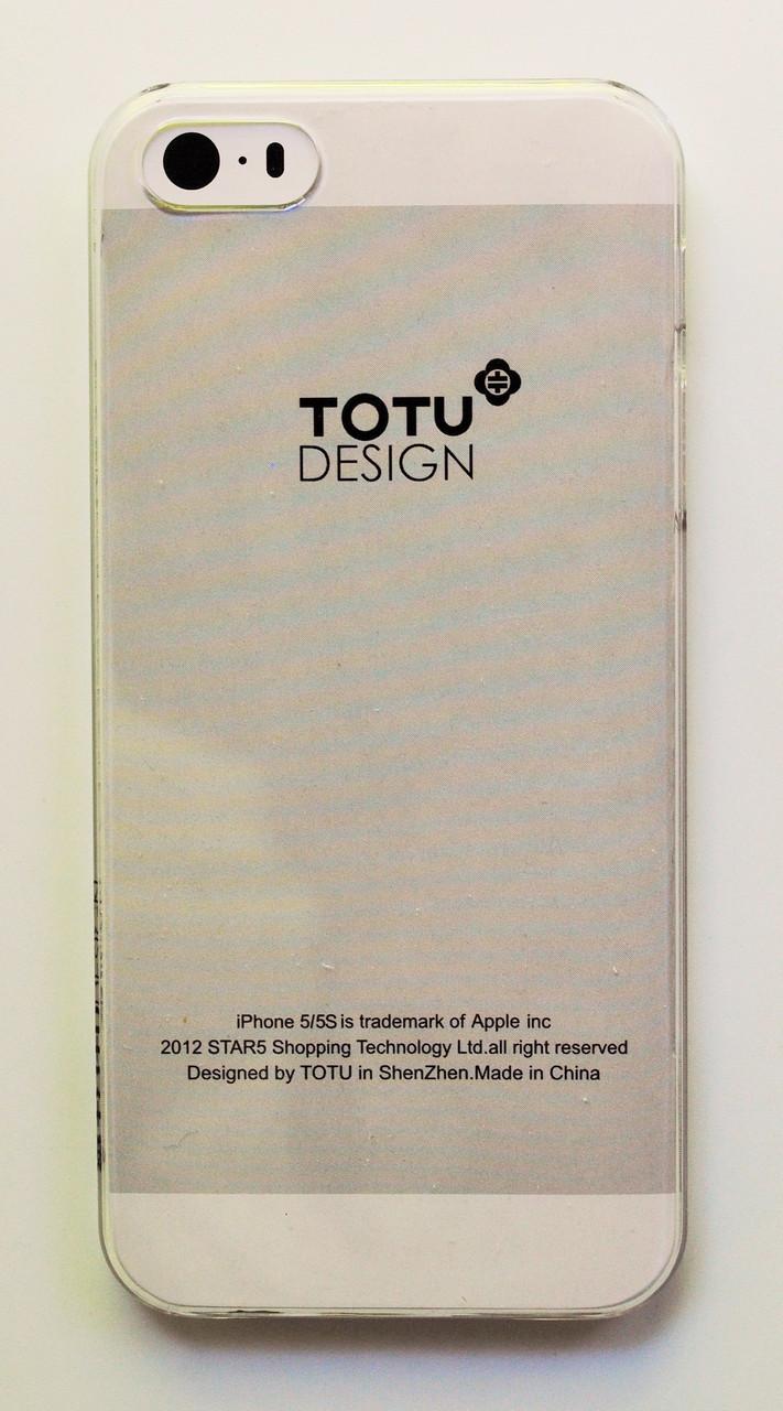 Чехол на Айфон 5/5s/SE Totu Breeze Пластик Без горизонтальных полос Прозрачный