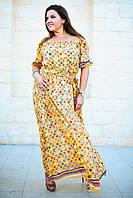 Красивое длинное платье шифоновое большого размера 50-54