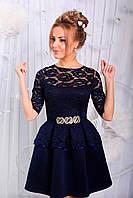 Платье Вечернее неопрен синее