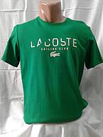 Мужская футболка поло трикотаж Lacoste Турция  зеленая