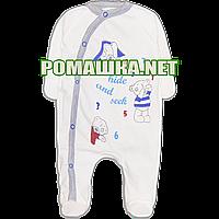 Человечек для новорожденного р. 62 тонкий ткань КУЛИР 100% хлопок ТМ Свит 3652 Синий