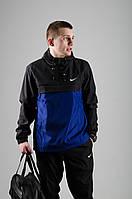 Анорак Nike / Ветровка Nike / черный  / синий