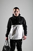Анорак Nike / Ветровка Nike / черный  / белый