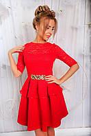 Платье Вечернее неопрен красное