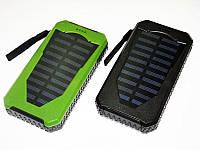 Внешний аккумулятор Solar Power Bank 25800 mAh на солнечной батарее черный, зеленый