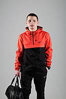 Анорак Nike / Ветровка Nike / красный / черный