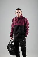 Анорак Nike / Ветровка Nike / бордовый / черный