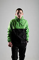 Анорак Nike / Ветровка Nike / зеленый / черный