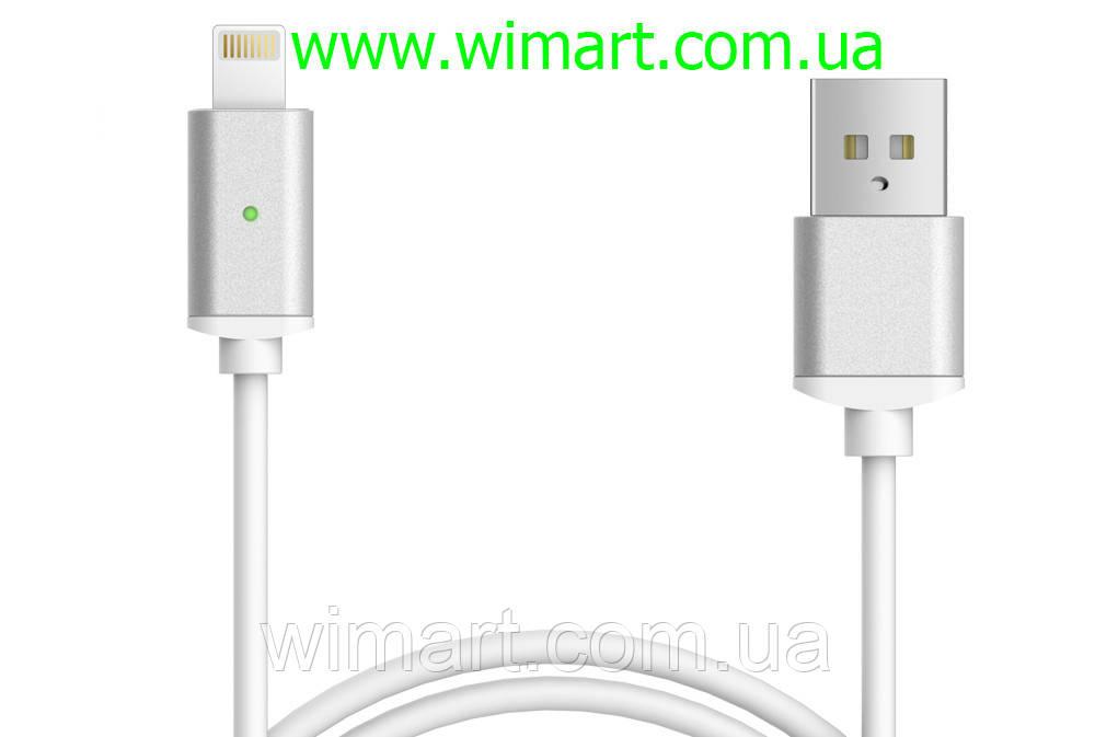 Магнитный кабель USB - USB Type-C для зарядкии передачи данных. Серебрянный.