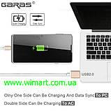 Магнитный кабель USB - USB Type-C для зарядкии передачи данных. Серебрянный., фото 5