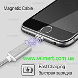 Магнитный кабель USB - USB Type-C для зарядкии передачи данных. Красный. Garas., фото 7