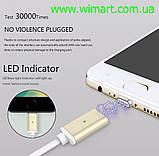Магнітний кабель USB - USB Type-C для зарядкии передачі даних. Червоний. Garas., фото 3