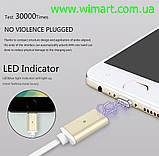Магнитный кабель USB - USB Type-C для зарядкии передачи данных. Серебрянный., фото 9