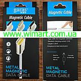 Магнітний кабель USB - USB Type-C для зарядкии передачі даних. Червоний. Garas., фото 10
