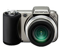 Фотоаппарат Olympus Camedia SP-600UZ Silver-titanium, 12 Mp, LCD 2,7', Zoom 15x, оптический стабилизатор, 720p, SD, SDHC, 4 x AA