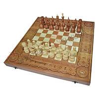Шахматы + Нарды, 50х50 см. Медь, фото 1