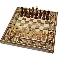Шахматы + Нарды, 50х50 см. Бисер, фото 1