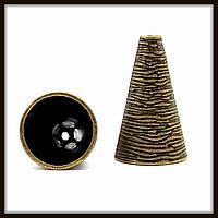 """Колпачок бижутерный """"бронза""""  (диам. 1,5 см, высота 2,5 см) 2 шт в уп."""