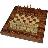 Шахматы + Нарды, 40х40 см. Медь, фото 1