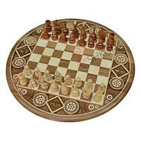 Круглые Шахматы, 36x36 см