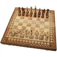 Подарочные шахматы 50х50 см. Бисер+Медь.