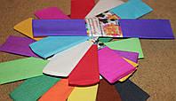 Бумага для творчества разноцветная гофрированная (крепированная) 2000*500м