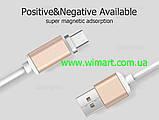 Магнітний кабель USB - USB Type-C для зарядкии передачі даних. Червоний. Garas., фото 2