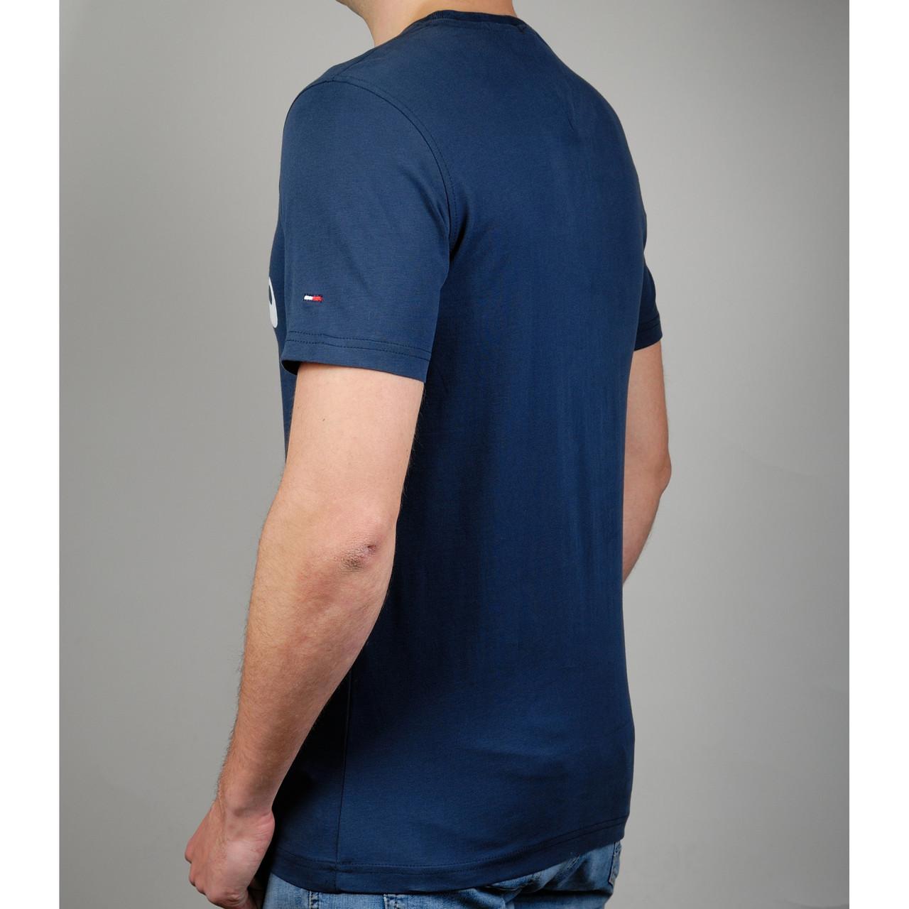 e1ba7f10ca979 Мужская футболка TOMMY HILFIGER 20827 темно-синяя - купить по лучшей ...