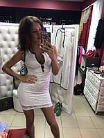 Женское кружевное платье  с пуговицами, в расцветках