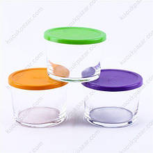 Набір контейнерів з кольоровими кришками Pasabahce Bistro (3 шт.), 220 мл 98740