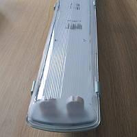 Корпус светильника под 2 LED лампы длиной 600 мм пылевлагозащищенный IP65
