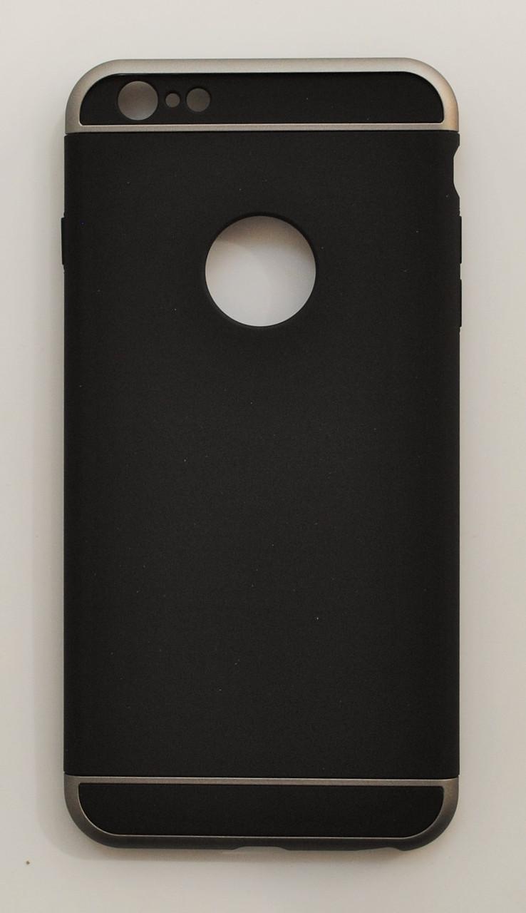 Чехол на Айфон 6 Plus/6s Plus 3 in 1 приятный Пластик Черный