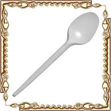 Ложка столовая одноразовая, белая (100 шт./уп.) 30 уп./меш.
